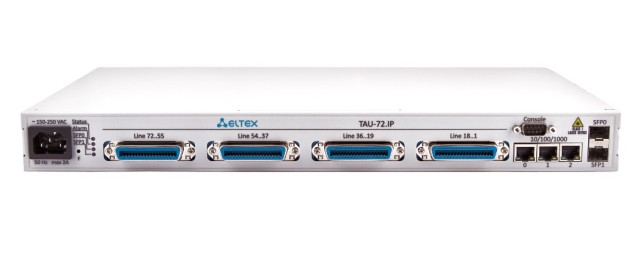 VoIP-шлюз Eltex TAU-72.IP-AC-S